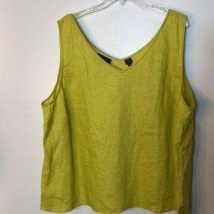 NWOT Dana Bachman linen top, size 24